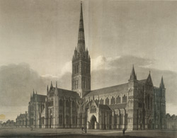 North-west view of the Cathedral Church of Salisbury
